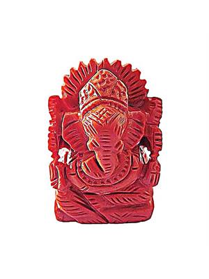 Coral (Moonga) Ganesha (Small)
